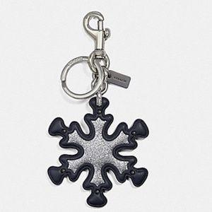 🆕 Coach Snowflake Key fob & bag charm